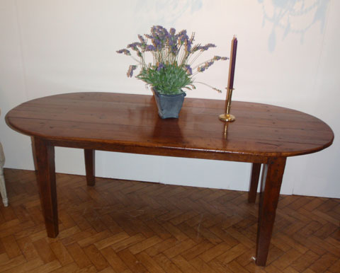 French 19th century Oak oval table
