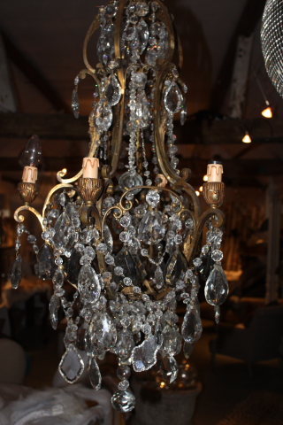 Wonderful French vintage chandelier from Life, Nettlebed, Oxon £2500.