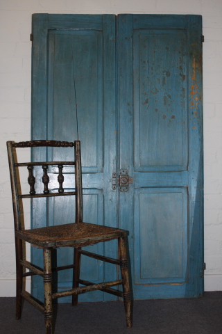 20th century original blue painted French shutters from The Old French Mirror Company £350.