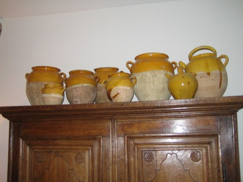 Old Confit jars and other pots