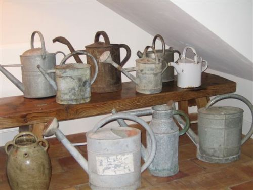 Watering cans!